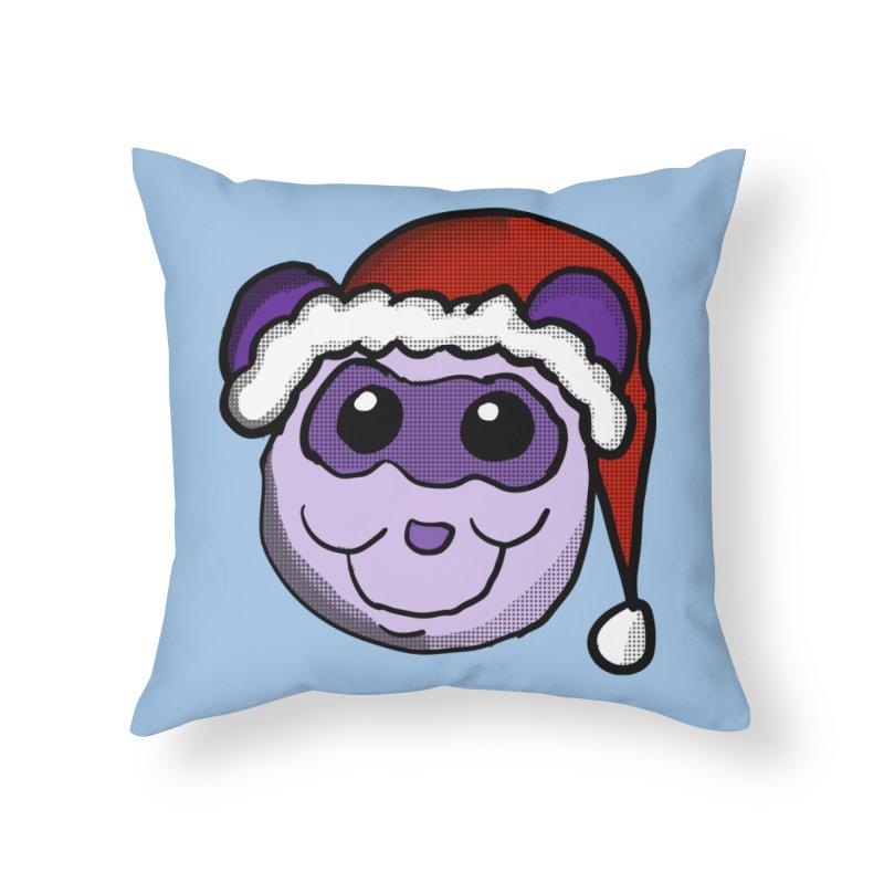 Christmas Panda Home Throw Pillow by ericallen's Artist Shop
