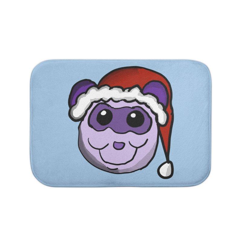 Christmas Panda Home Bath Mat by ericallen's Artist Shop