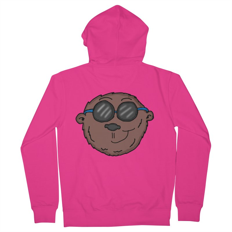 Sunglasses Monkey Men's French Terry Zip-Up Hoody by ericallen's Artist Shop