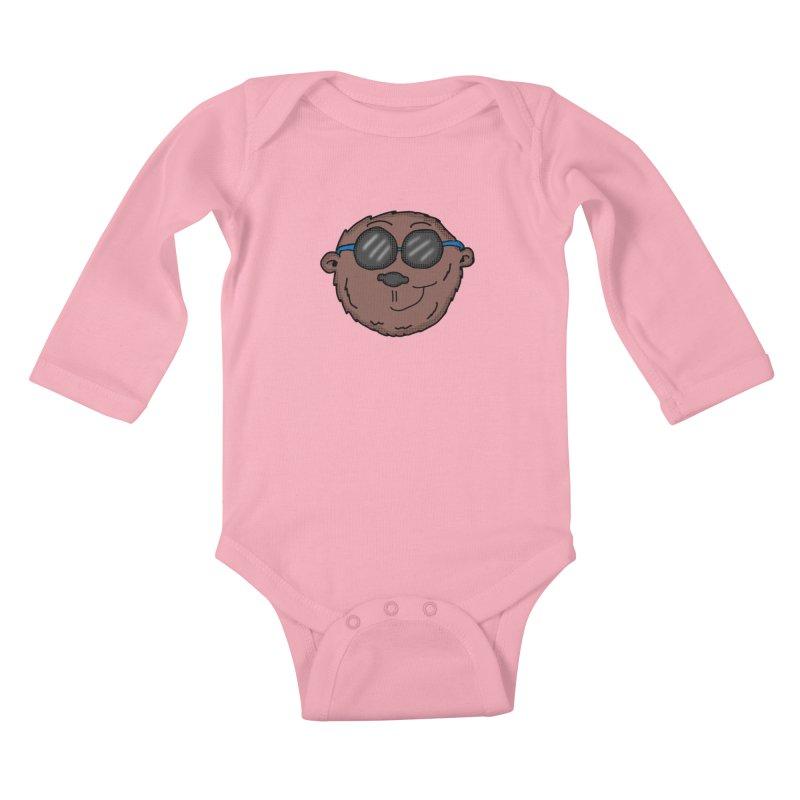 Sunglasses Monkey Kids Baby Longsleeve Bodysuit by ericallen's Artist Shop