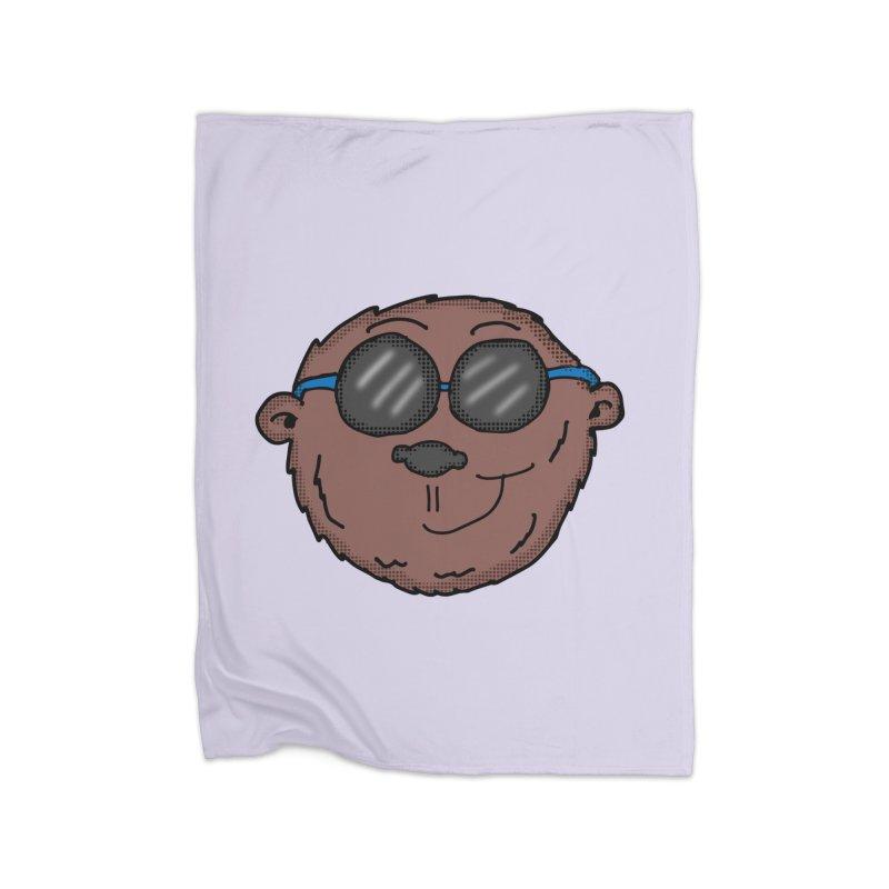 Sunglasses Monkey Home Blanket by ericallen's Artist Shop