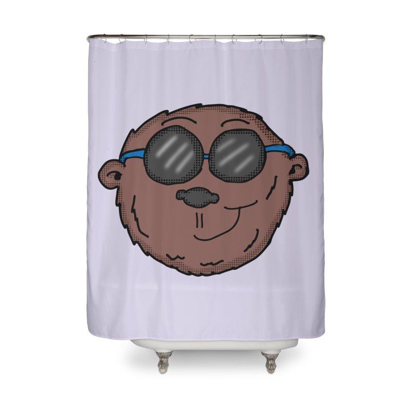 Sunglasses Monkey Home Shower Curtain by ericallen's Artist Shop