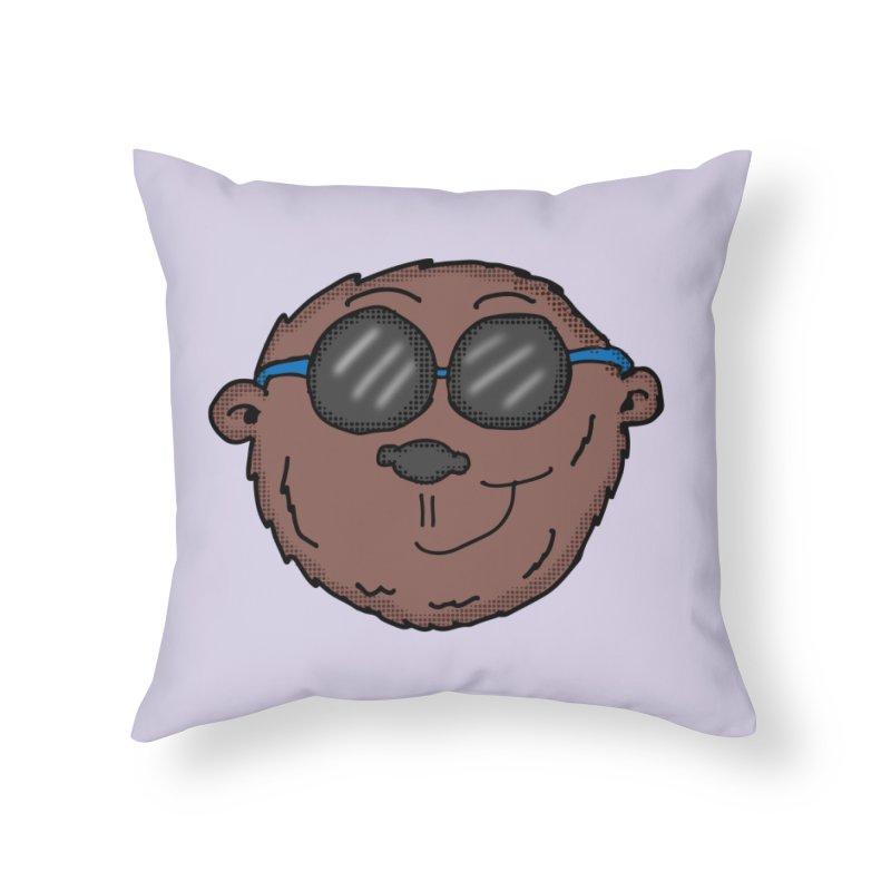 Sunglasses Monkey Home Throw Pillow by ericallen's Artist Shop