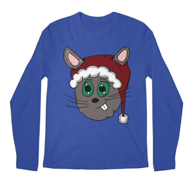 Christmas Bunny Men's Regular Longsleeve T-Shirt by ericallen's Artist Shop