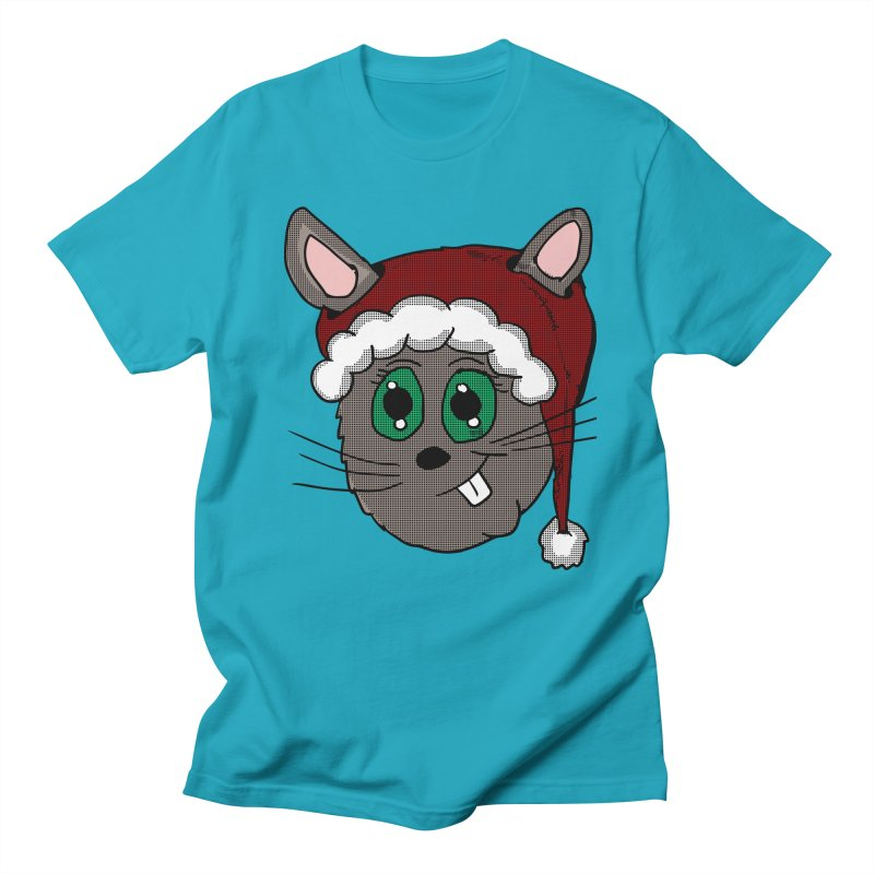Christmas Bunny Women's Regular Unisex T-Shirt by ericallen's Artist Shop
