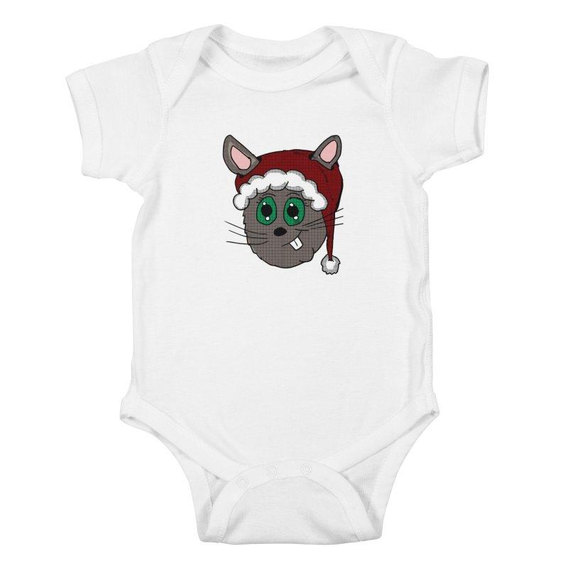 Christmas Bunny Kids Baby Bodysuit by ericallen's Artist Shop