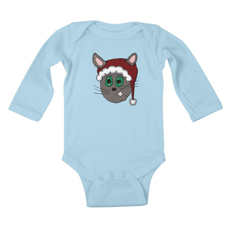 Christmas Bunny Kids Baby Longsleeve Bodysuit by ericallen's Artist Shop