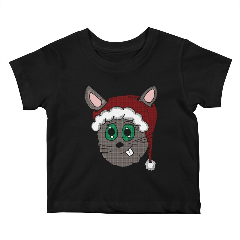 Christmas Bunny Kids Baby T-Shirt by ericallen's Artist Shop