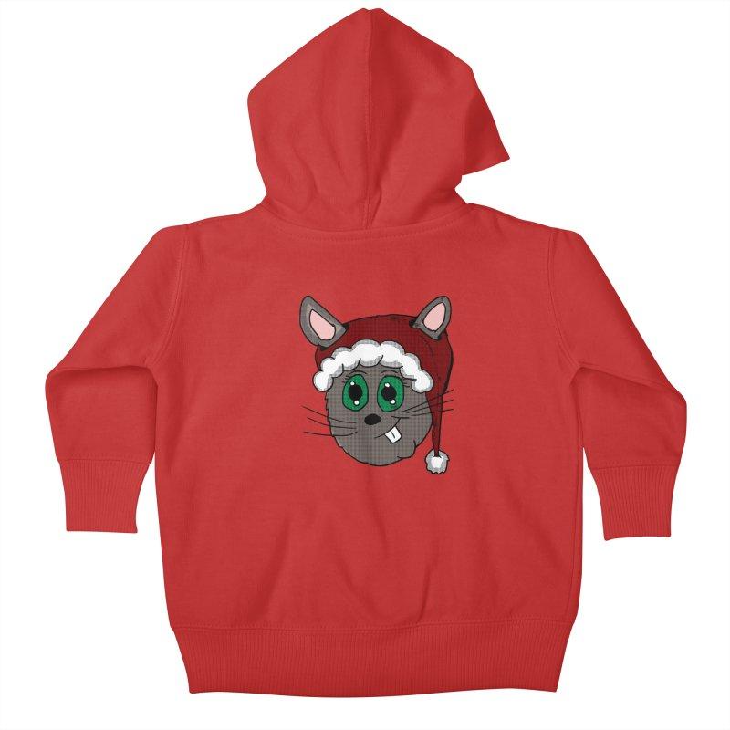 Christmas Bunny Kids Baby Zip-Up Hoody by ericallen's Artist Shop