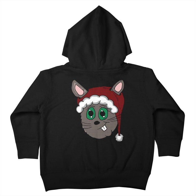 Christmas Bunny Kids Toddler Zip-Up Hoody by ericallen's Artist Shop