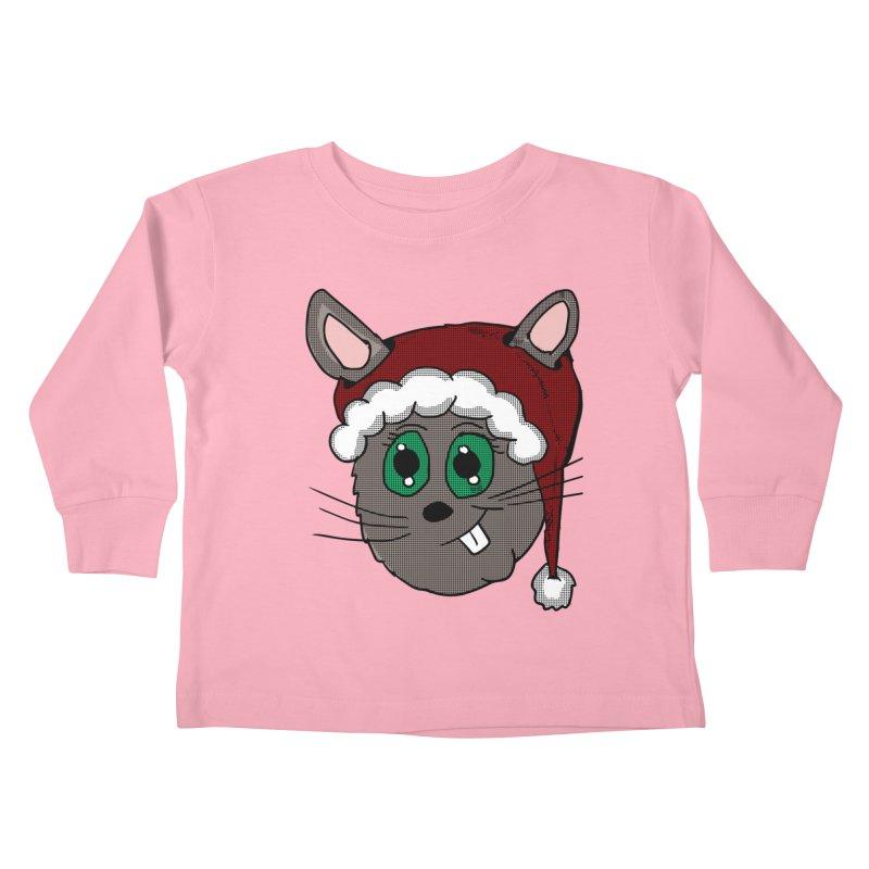 Christmas Bunny Kids Toddler Longsleeve T-Shirt by ericallen's Artist Shop