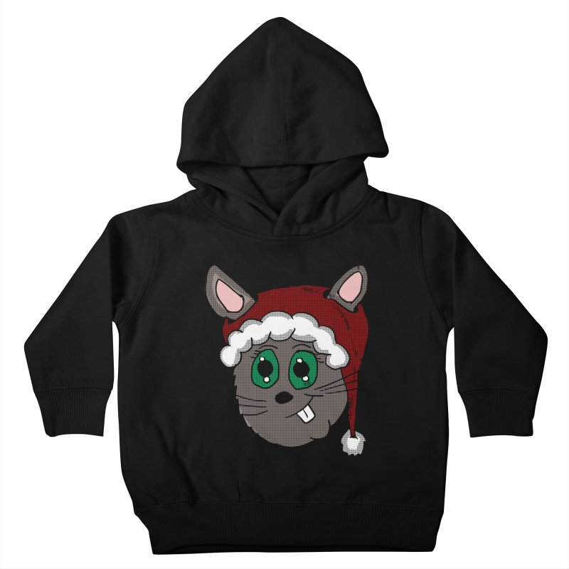 Christmas Bunny Kids Toddler Pullover Hoody by ericallen's Artist Shop