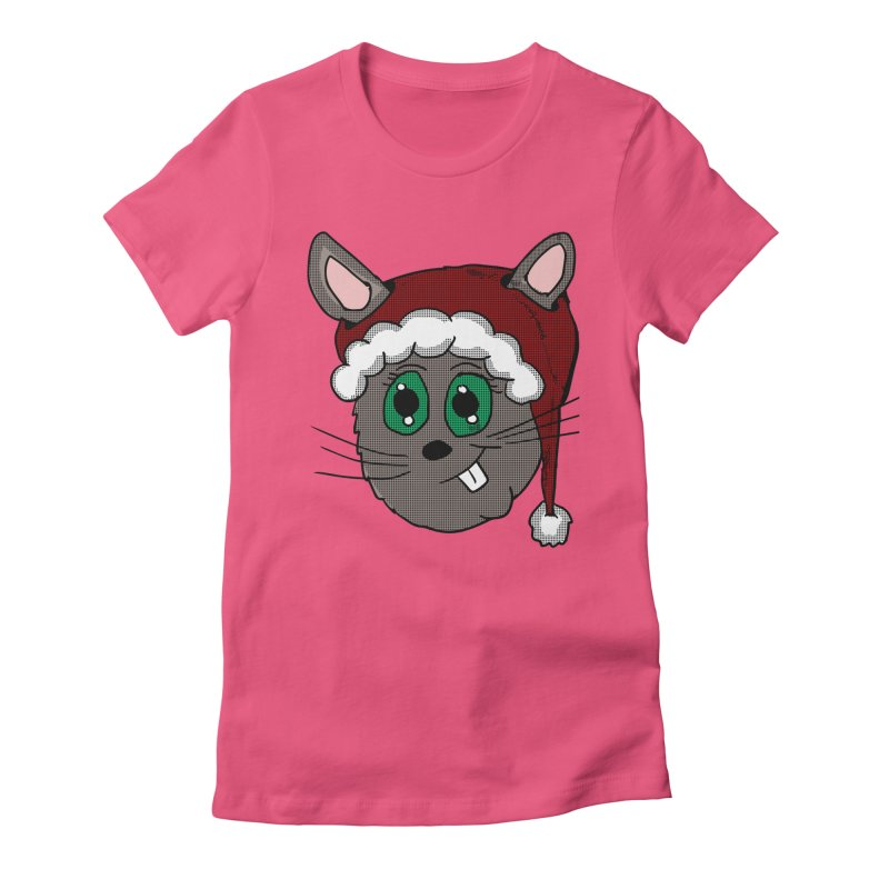 Christmas Bunny Women's Fitted T-Shirt by ericallen's Artist Shop