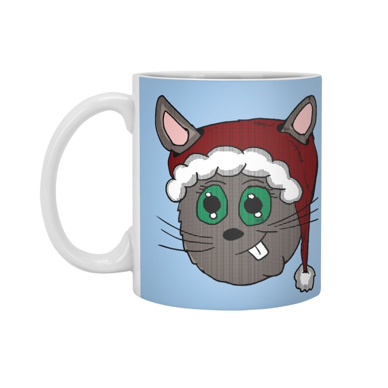 Christmas Bunny Accessories Mug by ericallen's Artist Shop