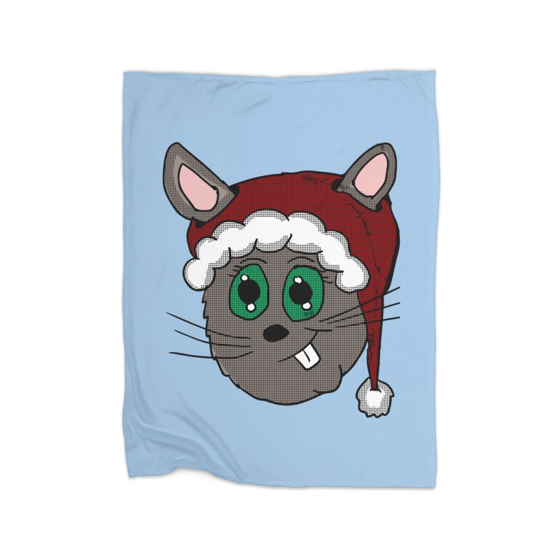 Christmas Bunny Home Blanket by ericallen's Artist Shop