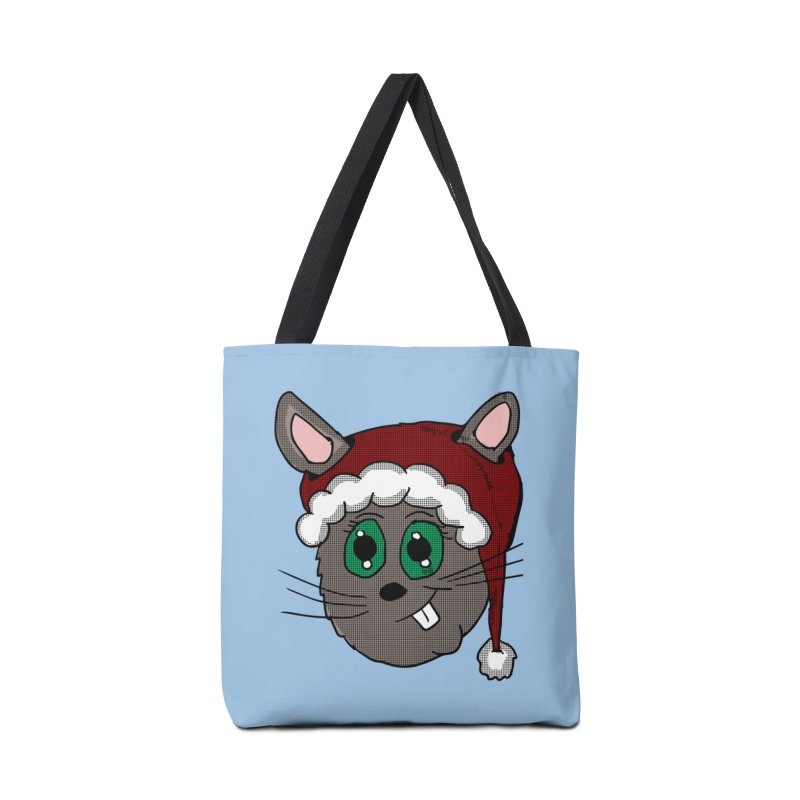 Christmas Bunny Accessories Bag by ericallen's Artist Shop