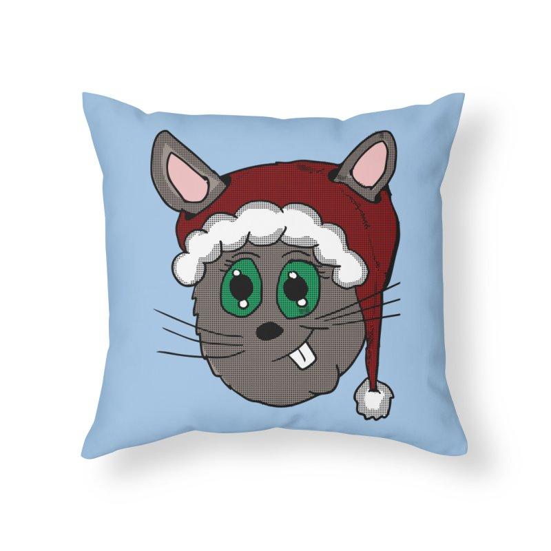 Christmas Bunny Home Throw Pillow by ericallen's Artist Shop