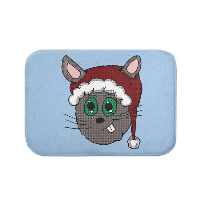Christmas Bunny Home Bath Mat by ericallen's Artist Shop