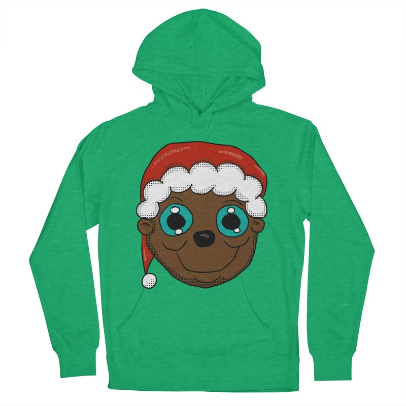Christmas Monkey Men's French Terry Pullover Hoody by ericallen's Artist Shop