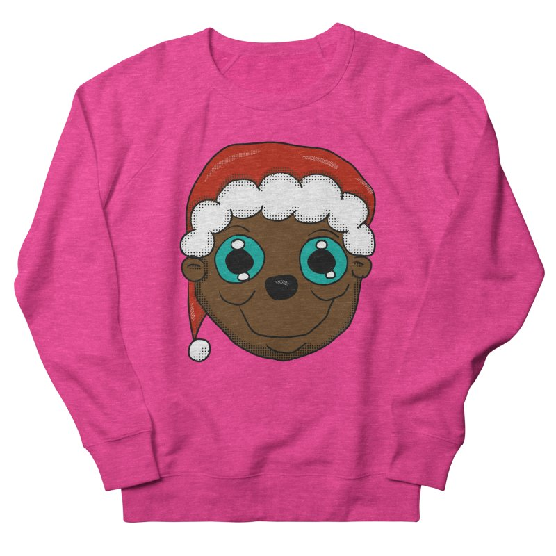 Christmas Monkey Women's French Terry Sweatshirt by ericallen's Artist Shop