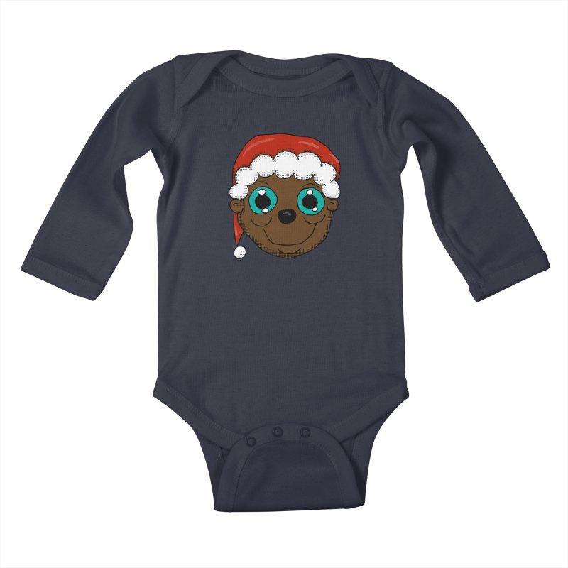Christmas Monkey Kids Baby Longsleeve Bodysuit by ericallen's Artist Shop