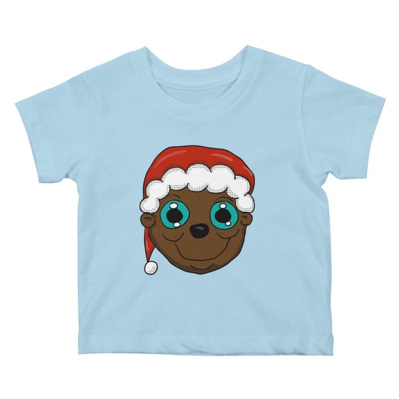 Christmas Monkey Kids Baby T-Shirt by ericallen's Artist Shop