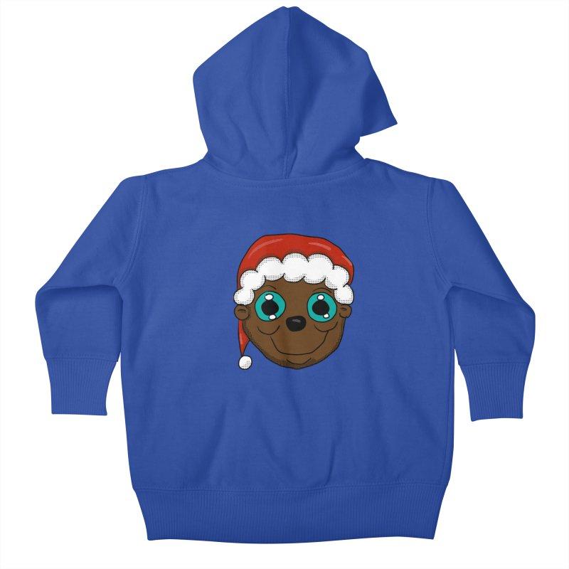 Christmas Monkey Kids Baby Zip-Up Hoody by ericallen's Artist Shop