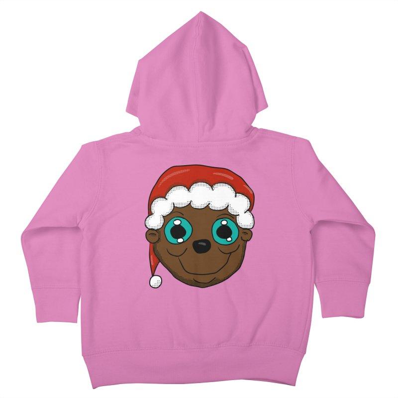 Christmas Monkey Kids Toddler Zip-Up Hoody by ericallen's Artist Shop