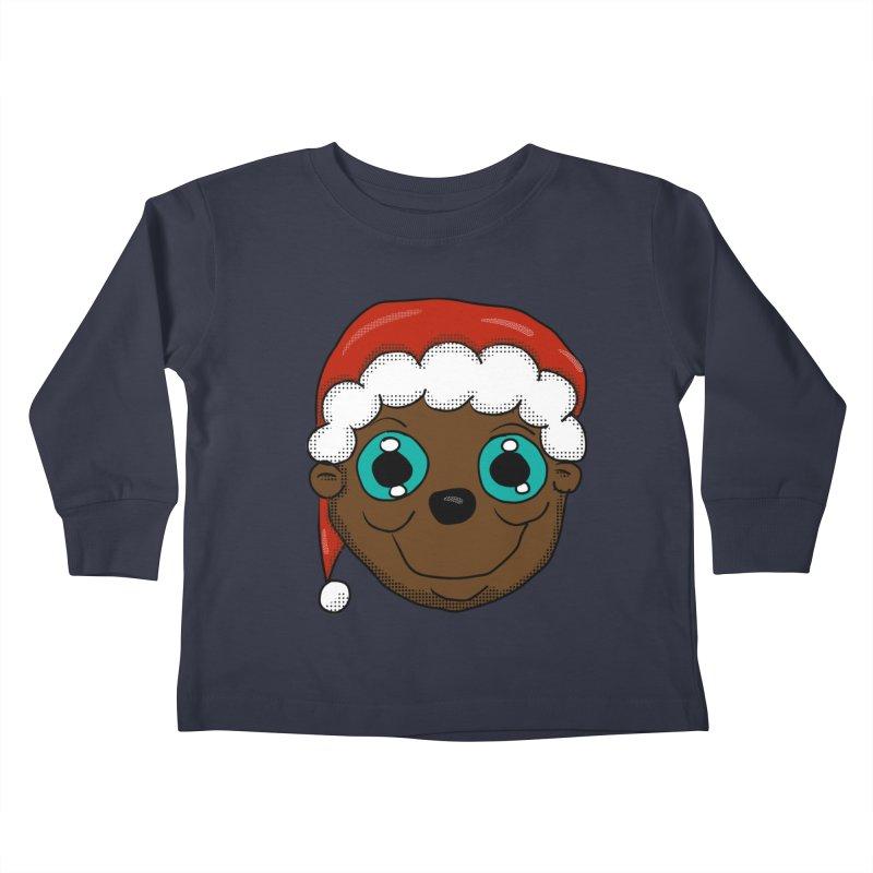 Christmas Monkey Kids Toddler Longsleeve T-Shirt by ericallen's Artist Shop