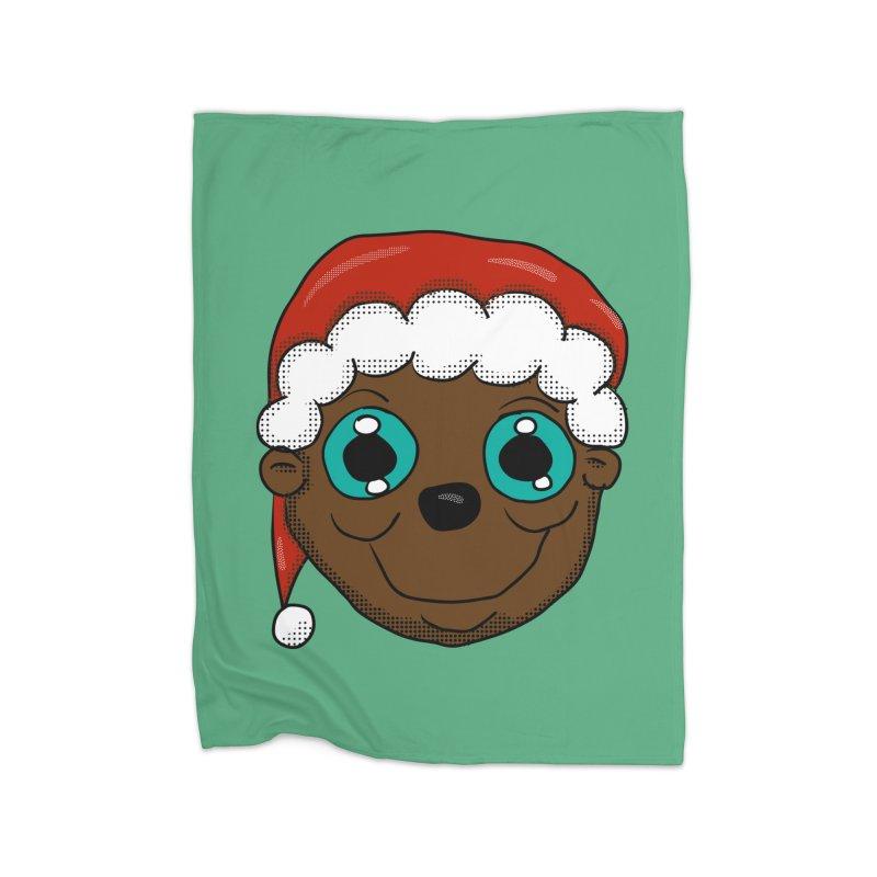 Christmas Monkey Home Blanket by ericallen's Artist Shop