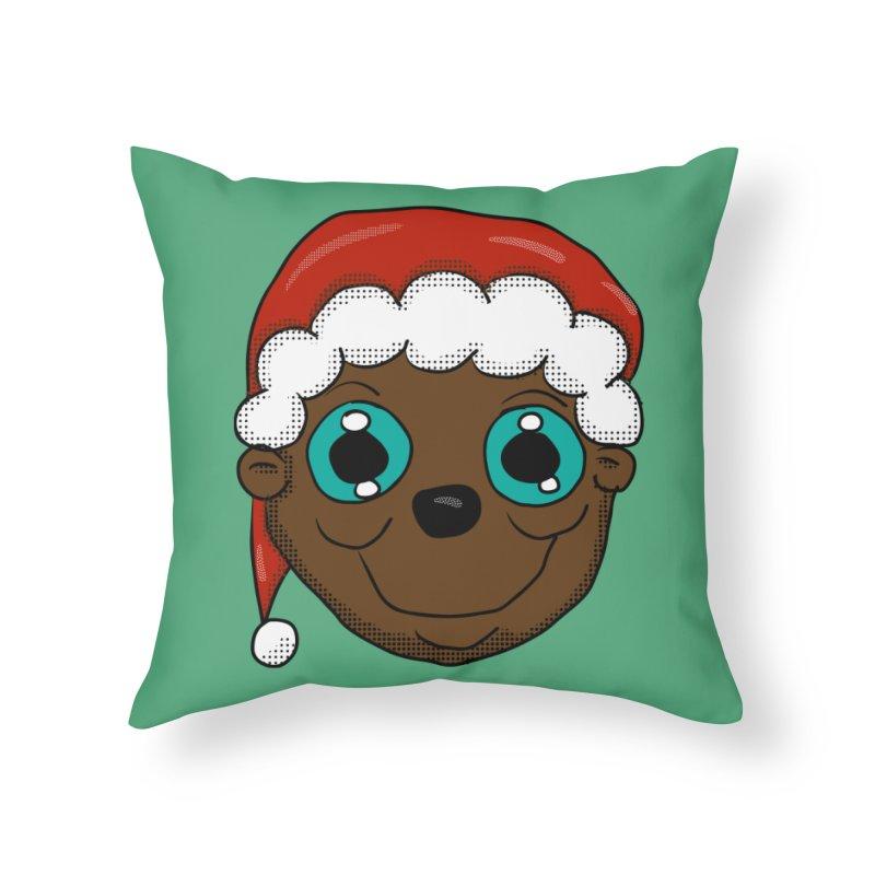 Christmas Monkey Home Throw Pillow by ericallen's Artist Shop