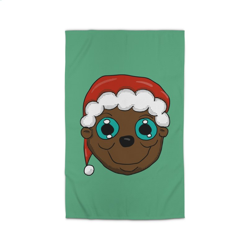 Christmas Monkey Home Rug by ericallen's Artist Shop