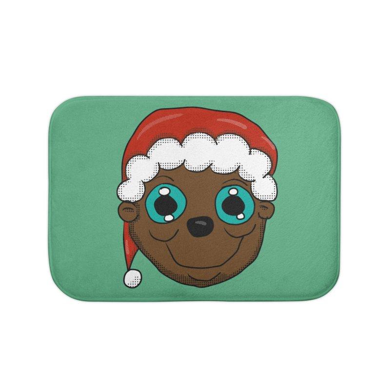 Christmas Monkey Home Bath Mat by ericallen's Artist Shop