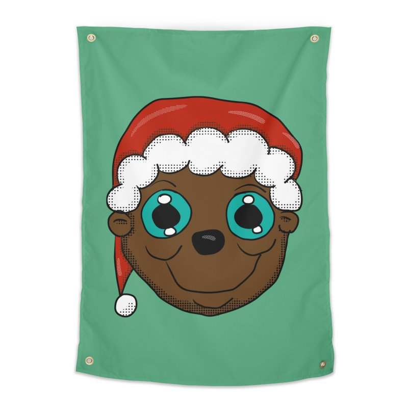 Christmas Monkey Home Tapestry by ericallen's Artist Shop