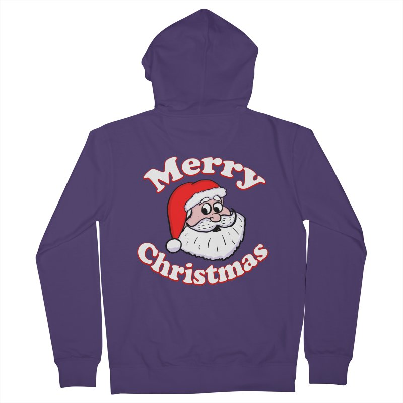 Merry Christmas Santa Women's French Terry Zip-Up Hoody by ericallen's Artist Shop