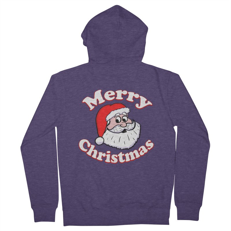 Merry Christmas Santa Men's French Terry Zip-Up Hoody by ericallen's Artist Shop