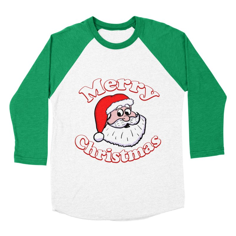 Merry Christmas Santa Women's Baseball Triblend Longsleeve T-Shirt by ericallen's Artist Shop