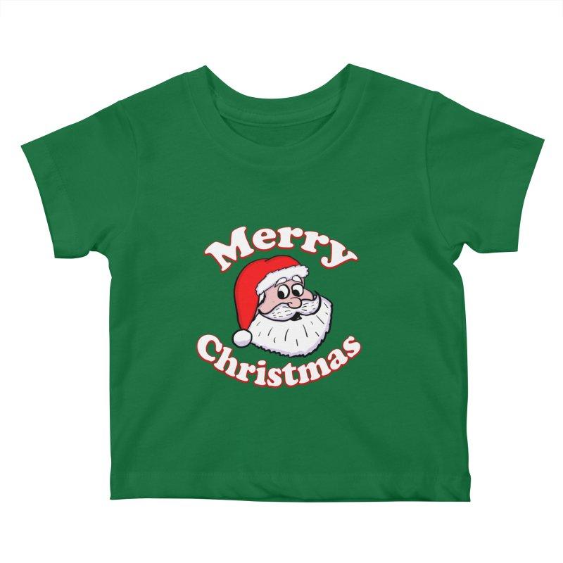 Merry Christmas Santa Kids Baby T-Shirt by ericallen's Artist Shop