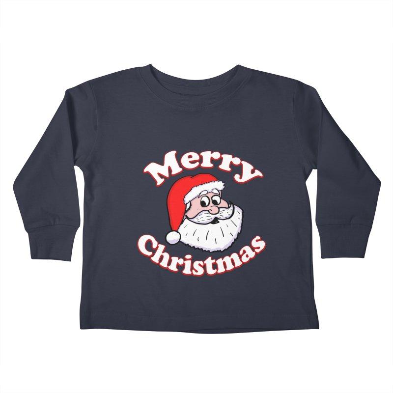Merry Christmas Santa Kids Toddler Longsleeve T-Shirt by ericallen's Artist Shop