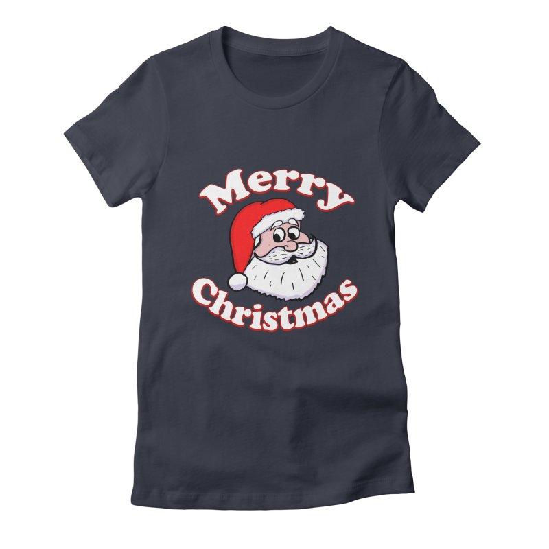 Merry Christmas Santa Women's Fitted T-Shirt by ericallen's Artist Shop