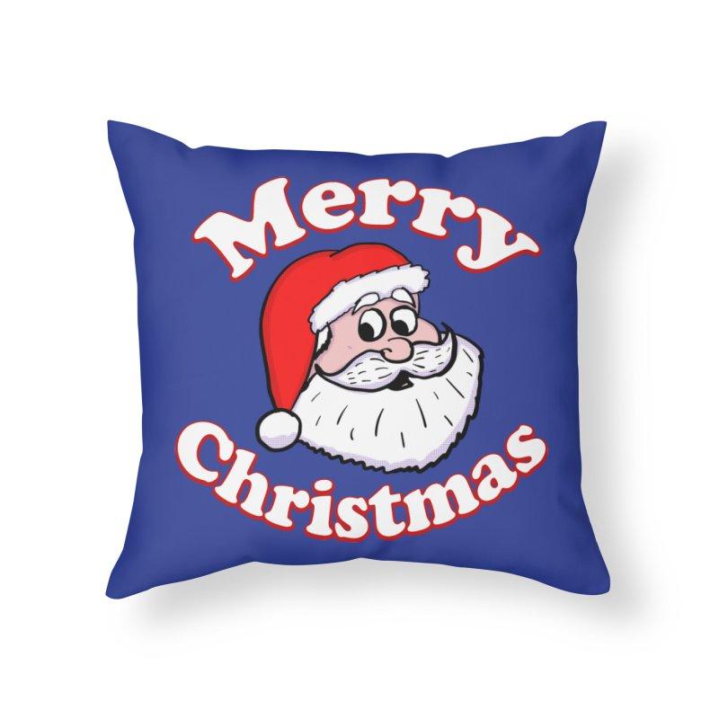 Merry Christmas Santa Home Throw Pillow by ericallen's Artist Shop