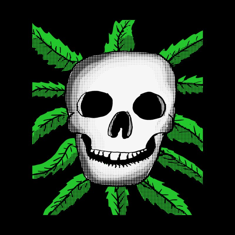 Marijuana Leaves Skull Home Fine Art Print by ericallen's Artist Shop