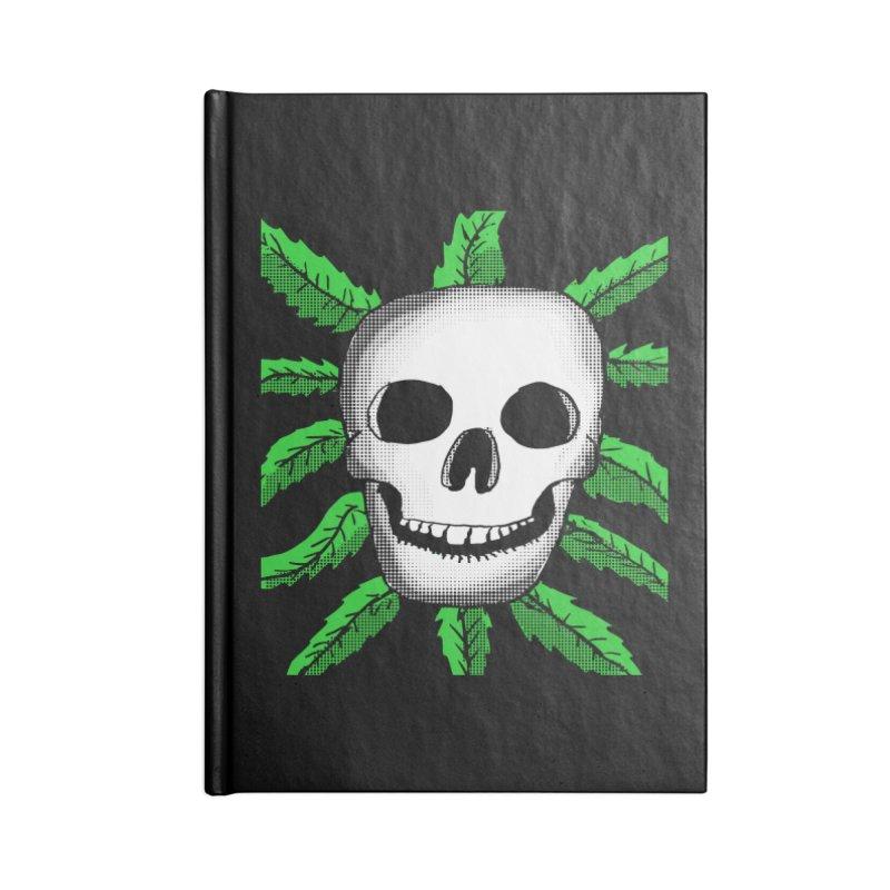 Marijuana Leaves Skull Accessories Notebook by ericallen's Artist Shop