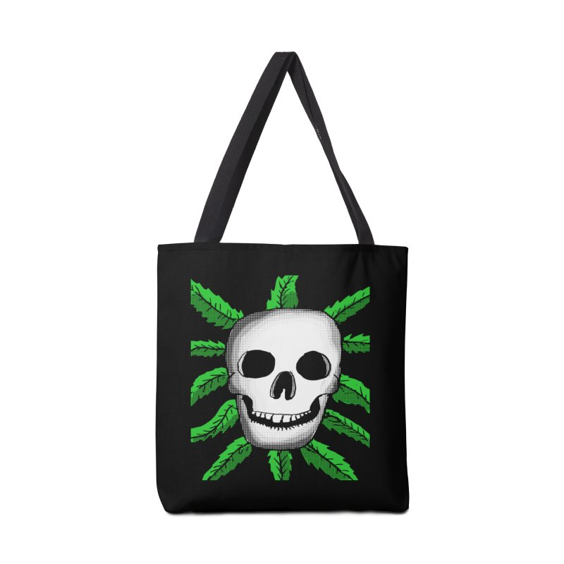 Marijuana Leaves Skull Accessories Bag by ericallen's Artist Shop