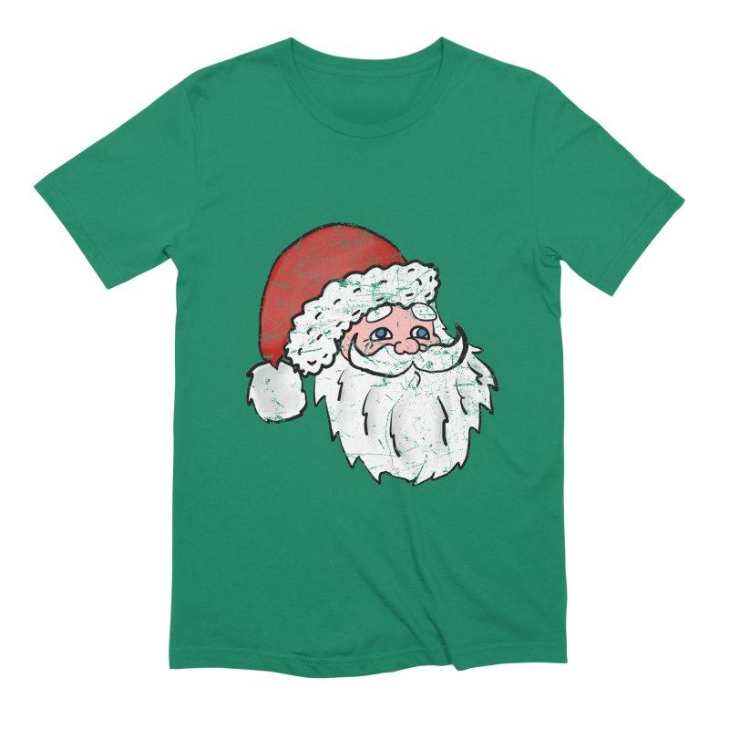 Vintage Santa head 2 Men's Extra Soft T-Shirt by ericallen's Artist Shop