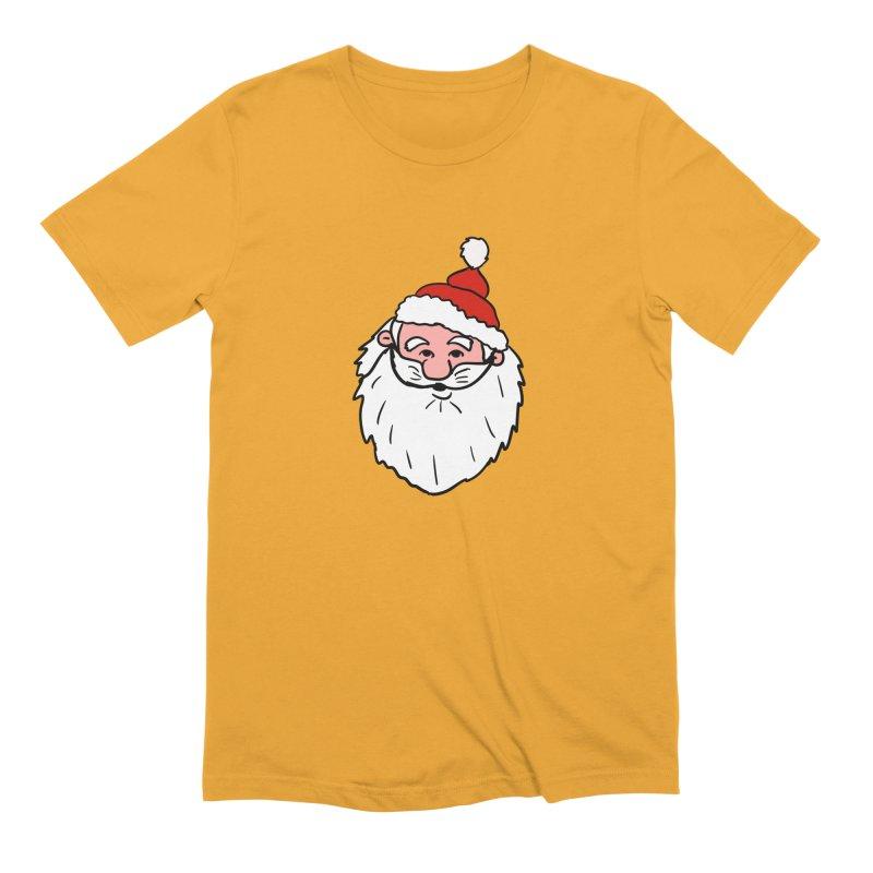 Funny Santa Head Men's Extra Soft T-Shirt by ericallen's Artist Shop