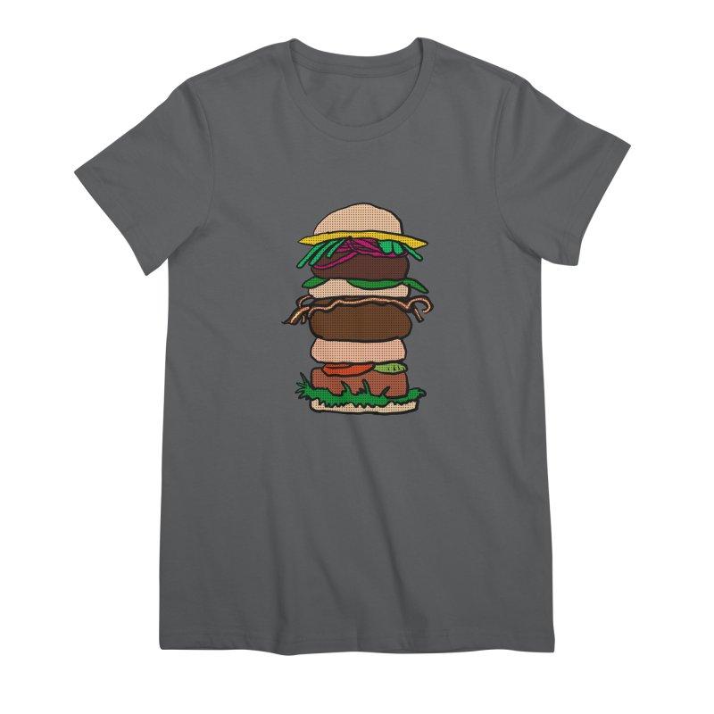 Mega Burger Women's Premium T-Shirt by ericallen's Artist Shop