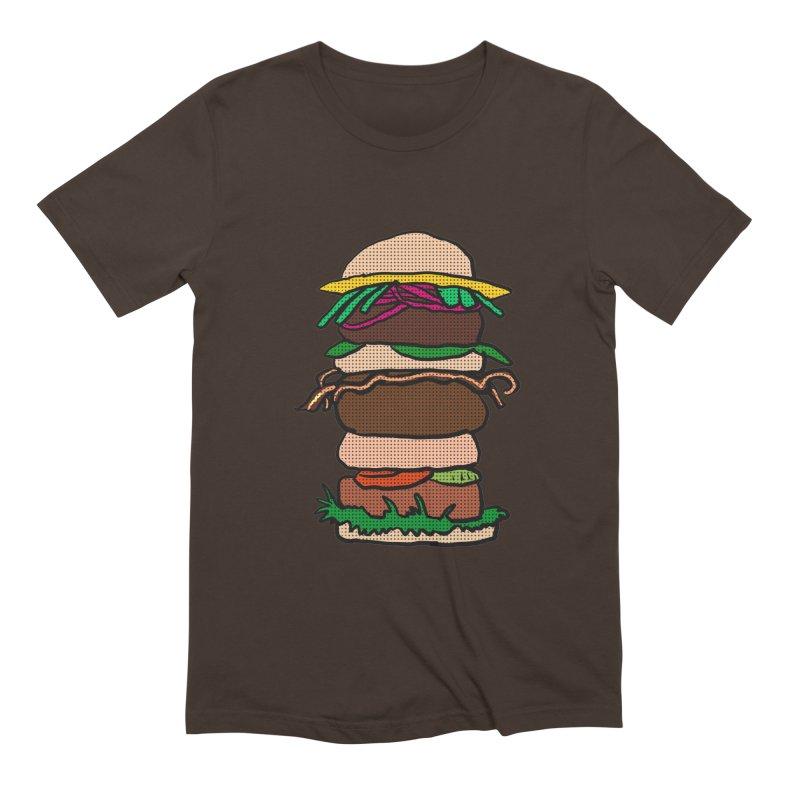 Mega Burger Men's Extra Soft T-Shirt by ericallen's Artist Shop