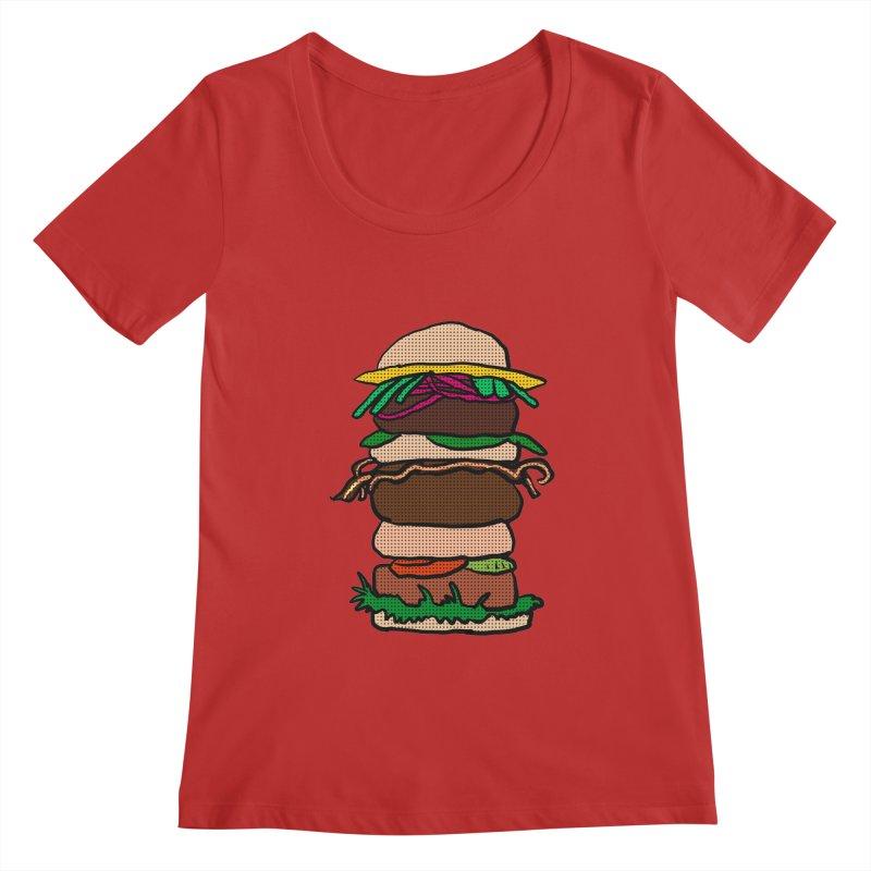 Mega Burger Women's Regular Scoop Neck by ericallen's Artist Shop