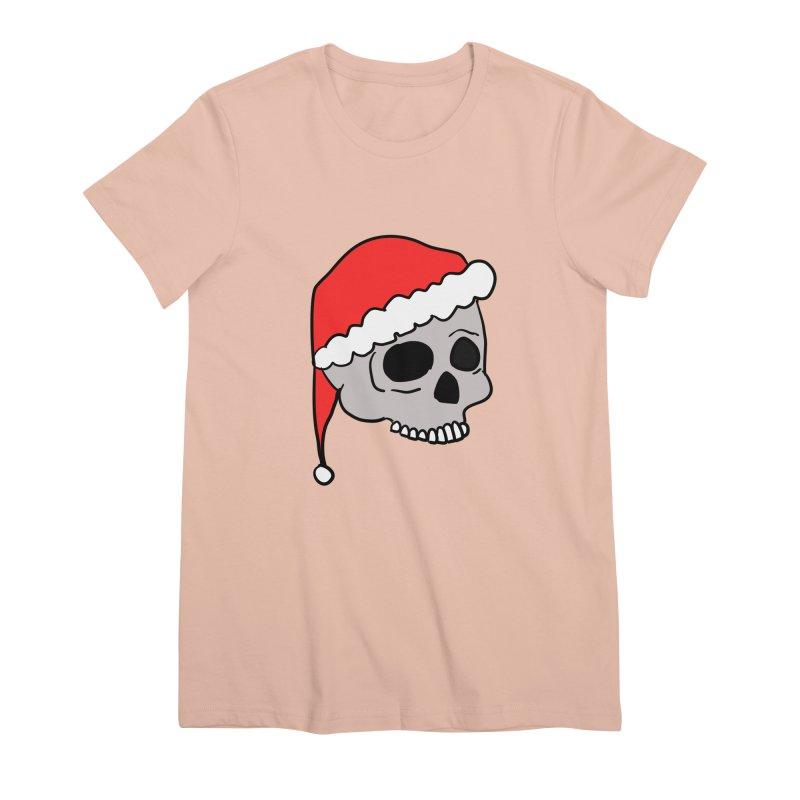 Santa Cap Skull Women's Premium T-Shirt by ericallen's Artist Shop